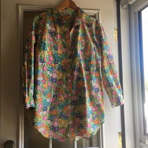 Lilly Pulitzer Cotton Button Down XL
